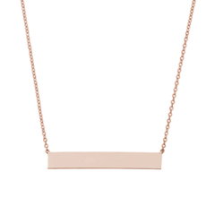 Engravable East to West Rectangle Bar Necklace