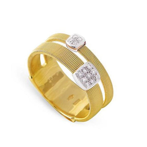 Masai Two Strand Yellow Gold & Diamond Ring