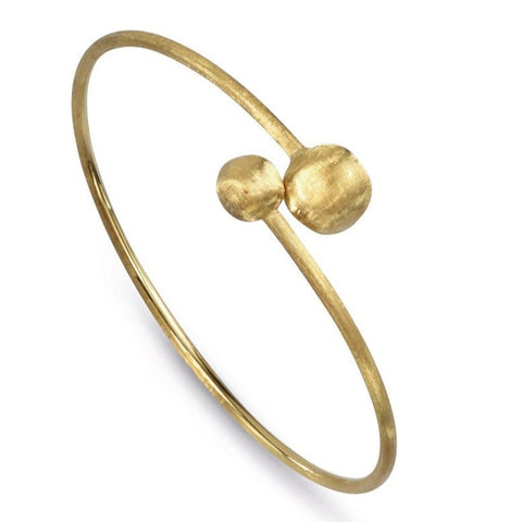 Africa Yellow Gold Bypass Bangle