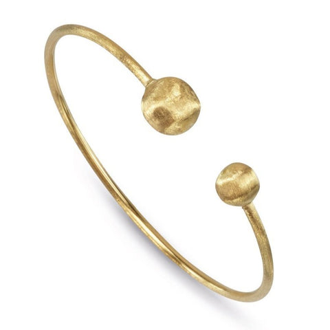 Africa Yellow Gold Kissing Bangle