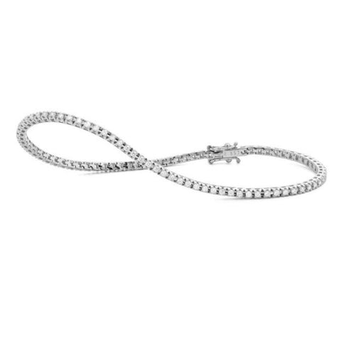 Thin Classic Prong Set 1.00ctw Diamond Tennis Bracelet