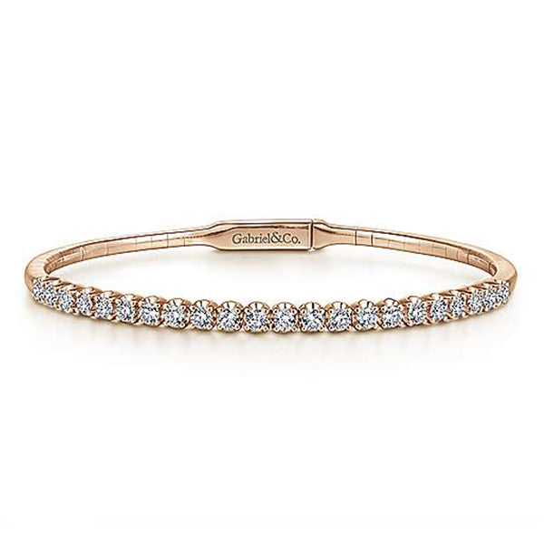 Classic Prong Set Diamond Bangle