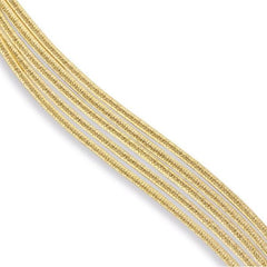 Cairo Yellow Gold Five Strand Woven Bracelet