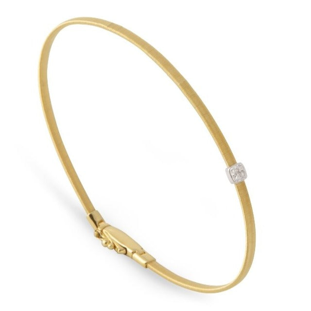 Masai Petite Single Diamond Station Bracelet in Yellow Gold