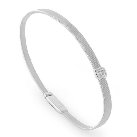 Masai Single Diamond Station Bracelet in White Gold