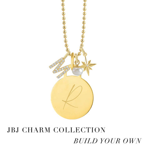 Pave Diamond Initial Charm - JBJ Charm Collection