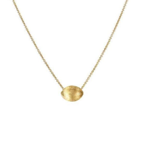 Delicati Yellow Gold Oval Bead Pendant