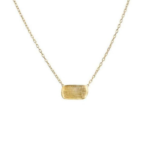 Delicati Yellow Gold Rectangle Bead Pendant