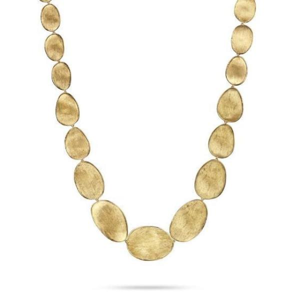 Lunaria Yellow Gold Medium Graduated Collar Necklace