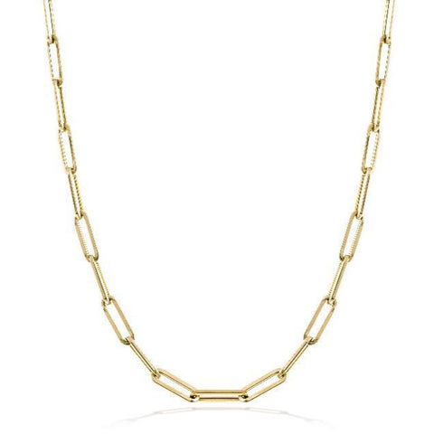 Gold Chunky Medium Link Chain Necklace