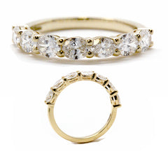 Classic Oval Prong Set Diamond Band  | East to West |