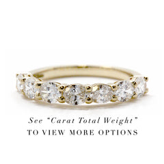 Classic Oval Prong Set Diamond Band  | East to West
