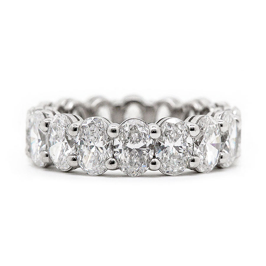 Classic Eternity Oval Prong Set Diamond Band | North to South