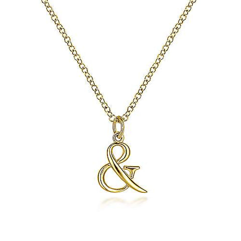 Delicate Ampersand Charm Pendant
