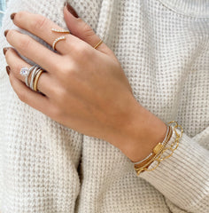 Plain Beaded Open Gold Bangle