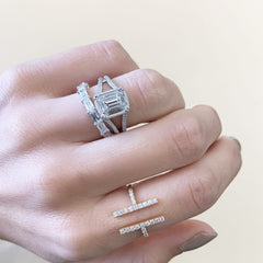 Rectangular Brilliant Diamond Band | East to West |