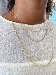 Petite Paper Clip 2.1mm Link Chain Necklace