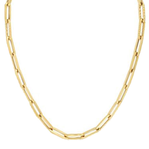 Large Paper Clip 6.1mm Link Chain Necklace