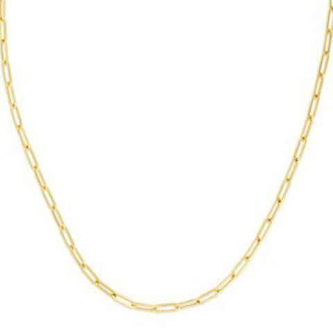 Medium Paper Clip 3.3mm Link Chain Necklace