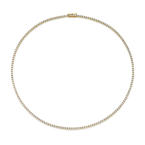 Classic Line Tennis Necklace, 4.93ctw