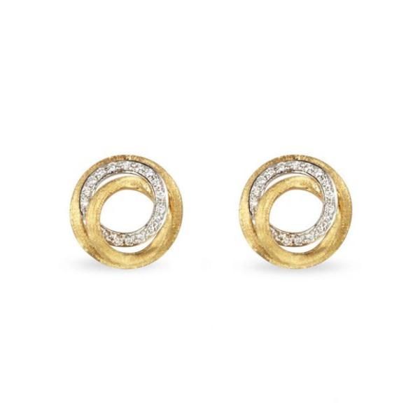 Jaipur Link Yellow Gold & Diamond Stud Earrings