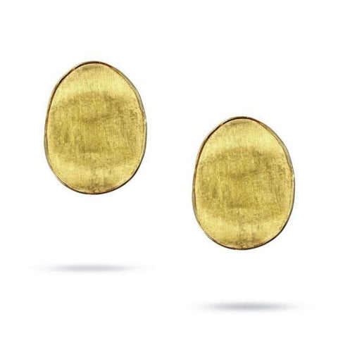 Lunaria Yellow Gold Large Stud Petal Earrings