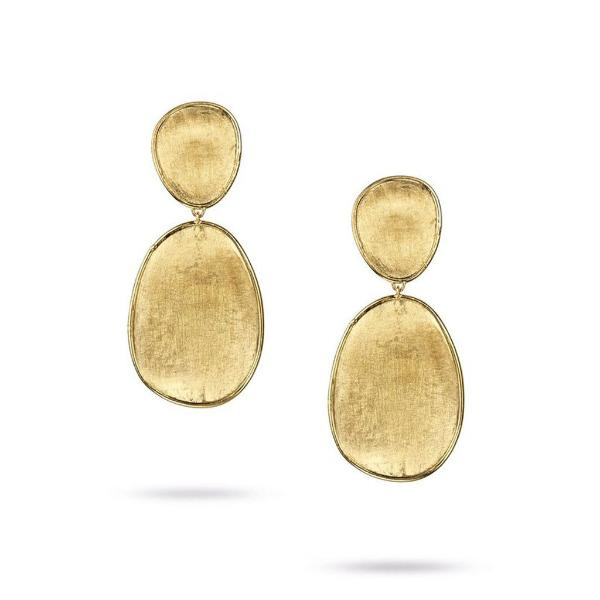 Lunaria Yellow Gold Small Double Drop Earrings