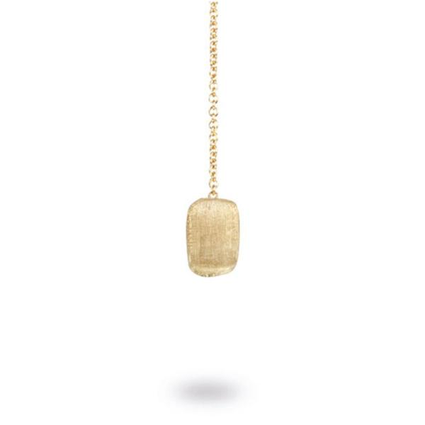 Delicati Yellow Gold Rectangle Bead Thread Through Earrings