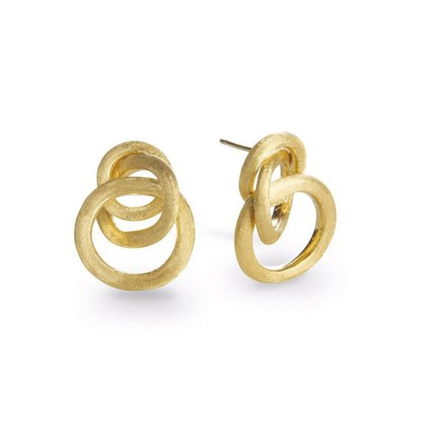 Jaipur Link Yellow Gold Link Small Knot Earrings