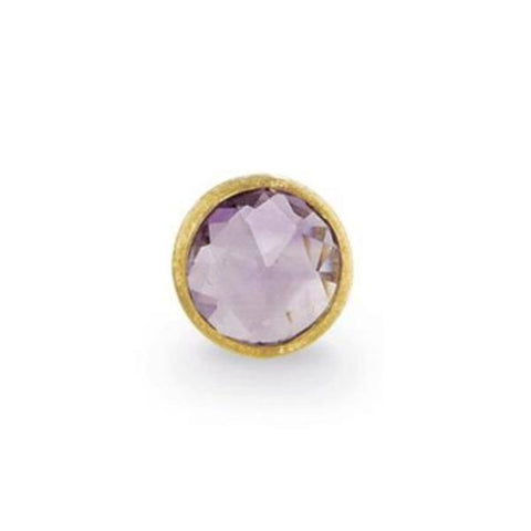 Jaipur Yellow Gold & Amethyst Petite Stud Earrings