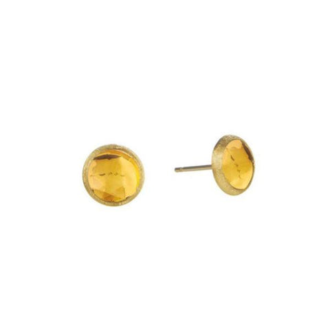 Jaipur Yellow Gold & Citrine Petite Stud Earrings