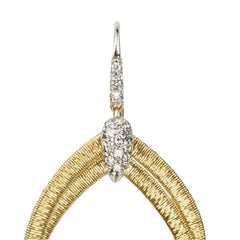 Cairo Yellow Gold & Diamond Small Drop Woven Earrings