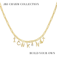 Block Initial Charm - JBJ Charm Collection