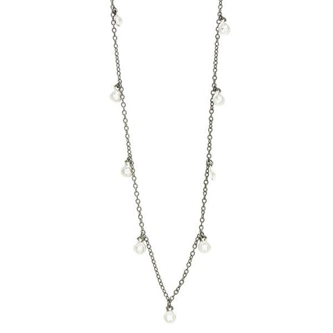 "Bezel Dangle 40"" Necklace 