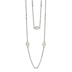 "Oval Station Raindrop Bezel 36"" Necklace 