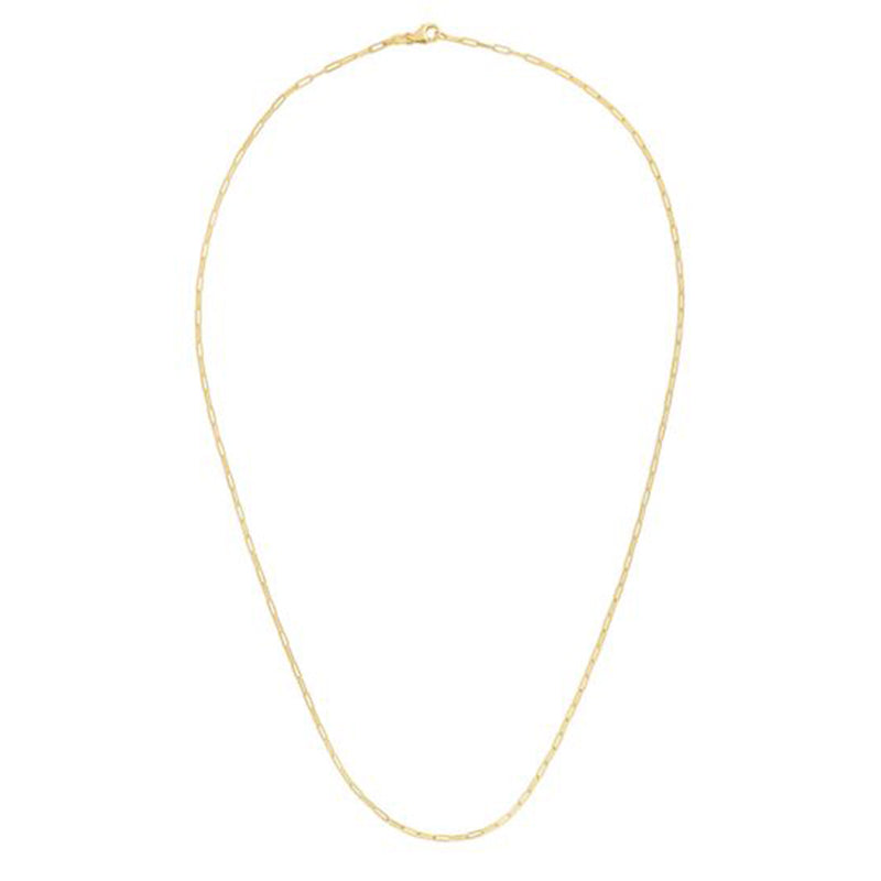 Ultra Petite Paper Clip 1.5mm Link Chain Necklace