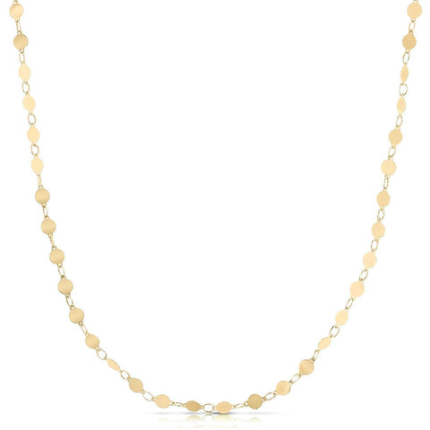 Mirrored Polish 4mm Chain Necklace in Yellow Gold