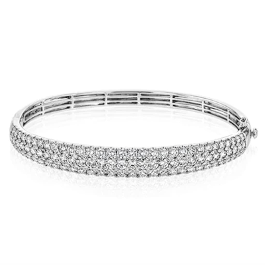 3 Row Large Pave Diamond Bangle