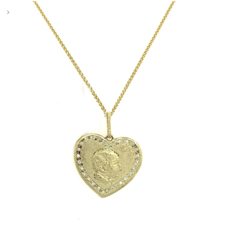 Yellow Gold Babylicious Heart Diamond Pendant
