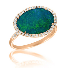 Australian Opal & Diamond Ring