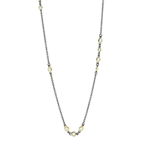 "Cluster Bezel Set 36"" Necklace 