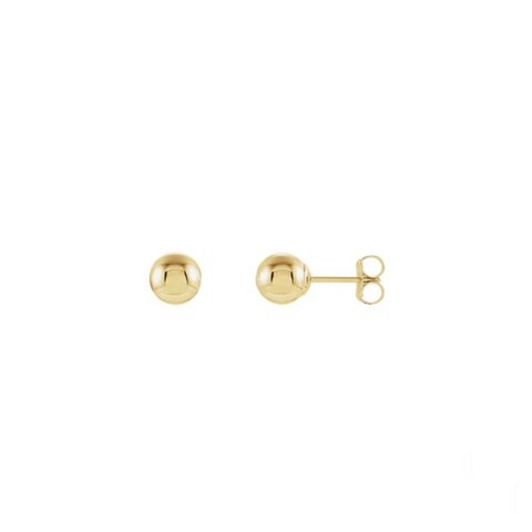 Tiny 14K Gold Ball Stud Earring