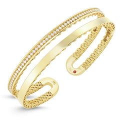 Double Open Symphony Golden Gate Bangle