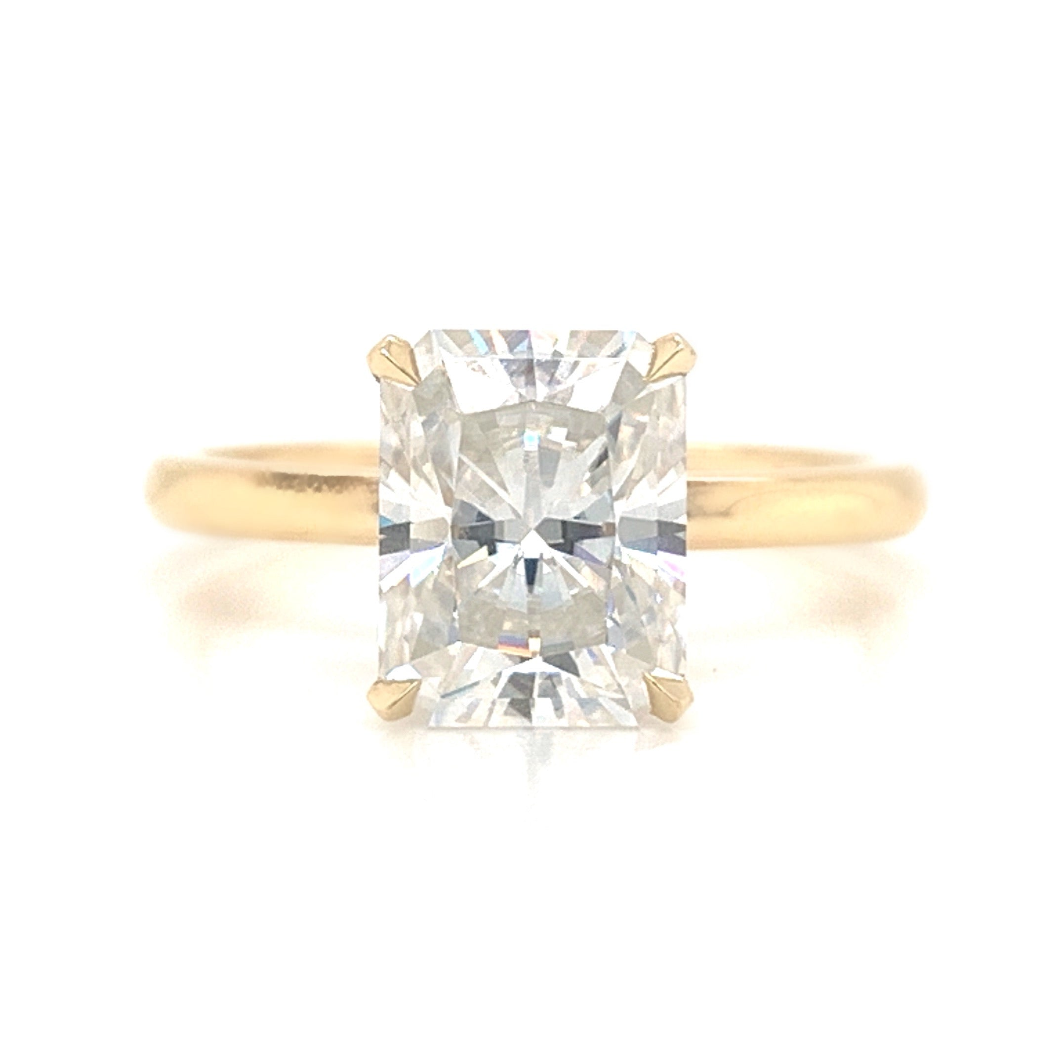 Radiant Cut Classic Delicate Solitaire Engagement Ring