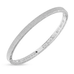 Symphony Barocco Plain Weaved Stackable Bangle