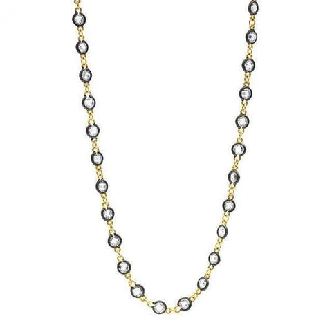 "Bezel Station 36"" Wrap Necklace 