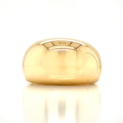 Large Dome Polish Plain Gold Band