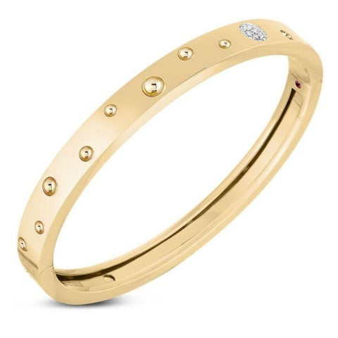 Luna Polished Diamond Bangle