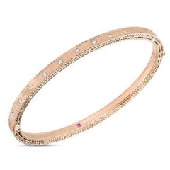 Symphony Princess Brushed Diamond Stackable Bangle