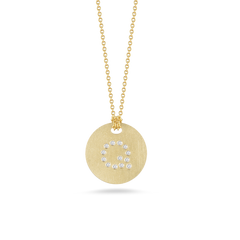 Diamond Initial Disc Pendant